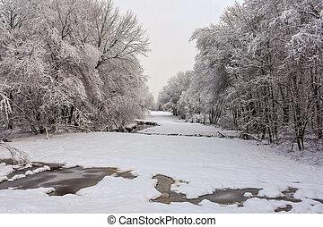 neve coberta, campo