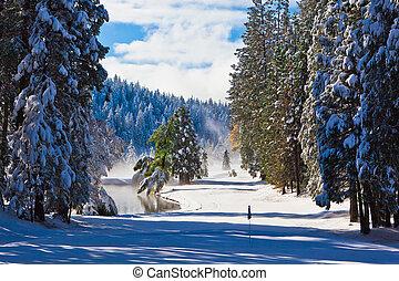 neve coberta, fairway