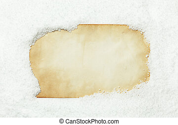 neve coberta, papel