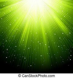 neve, eps, verde, stelle, 8, cadere, rays.