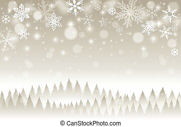 neve, fondo, inverno