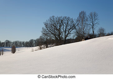 neve, inverno, dia