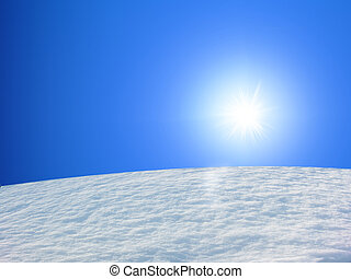 neve, montanha, azul, sk
