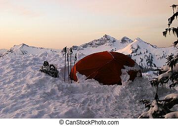 neve, tenda