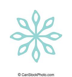 neve, vetorial, natal, ícone