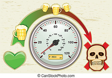 Never drink and drive - Drunk driving leads to death - never...