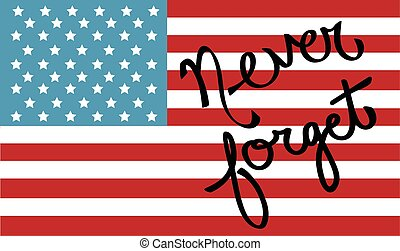 Never Forget American Flag