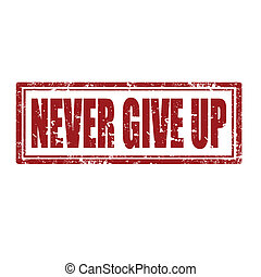 Never Give Up-stamp