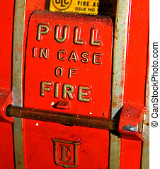 never used - dirty fire alarm ,never used