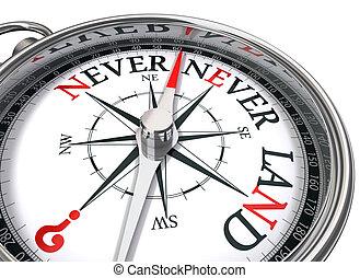neverland compass conceptual image