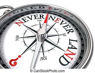 neverland, image conceptuelle, compas