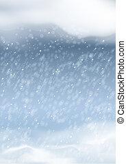 nevicata, astratto, vettore, inverno, fondo