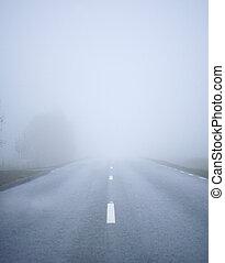 nevoeiro, estrada