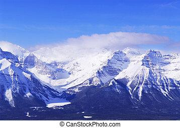 nevoso, montañas