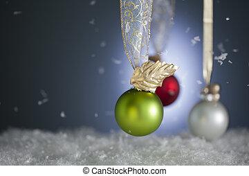 nevoso, ornamenti natale