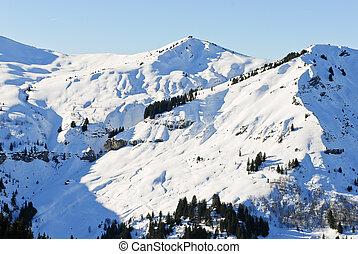 nevoso, picchi, di, alpi, montagne, francia