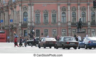 Nevsky prospect in Sankt-Petersburg, Russia. - ST....
