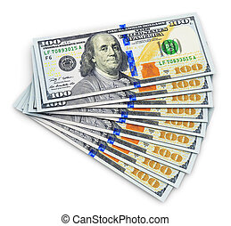 New 100 US dollar banknotes - Creative abstract business, ...