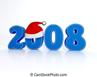 New 2008 Year - 3D symbol of new 2008 Year
