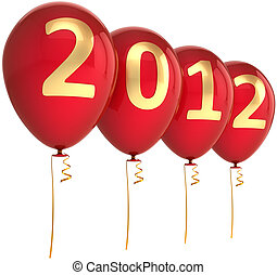 New 2012 Year party red balloons