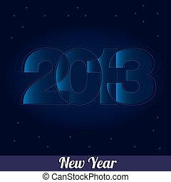 New 2013 year greeting card