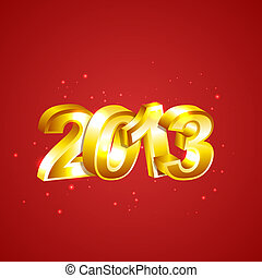 New 2013 Year Numbers
