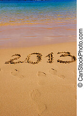 new 2013 year on the beach