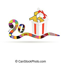 new 2013 year vector illustration