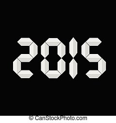 new 2015 year background vector