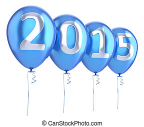New 2015 Year balloons party decoration blue
