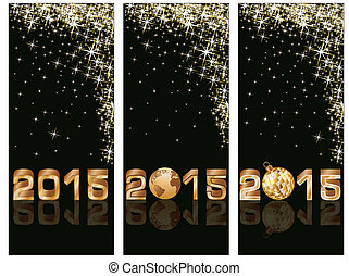 New 2015 Year banners, vector