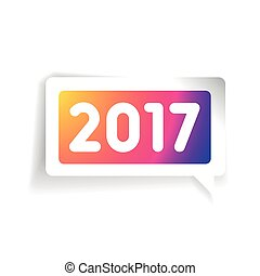 New 2017 year vector label