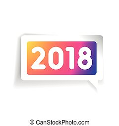 New 2018 year vector label