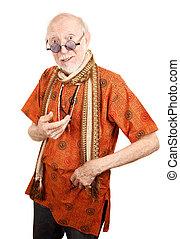 New Age Senior Man