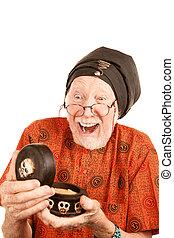 New Age Senior Man with Strange Substance