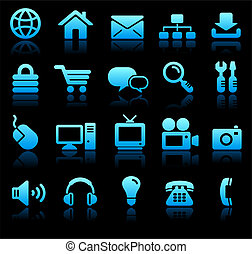 New Age Technology Icons Collection Original Vector...