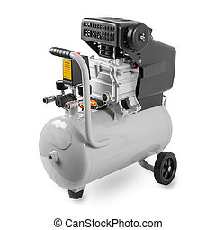 Air Compressor - New Air Compressor on white background