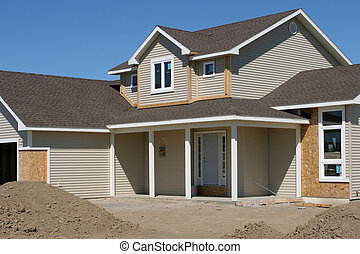 new american home, construction almost finished