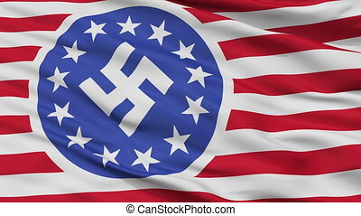 New American Republic Flag Closeup Seamless Loop
