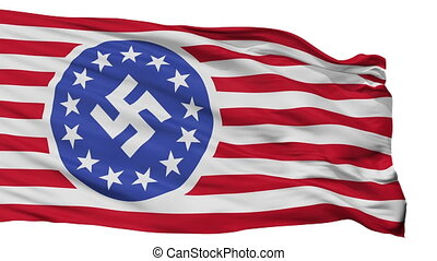 New American Republic Flag Isolated Seamless Loop - New...
