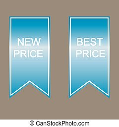 New and best price labels.