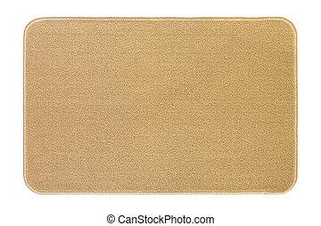New and clean floor rug, doormat in beige color isolated on...