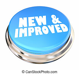 New and Improved Better Improvement Product Button 3d Illustration