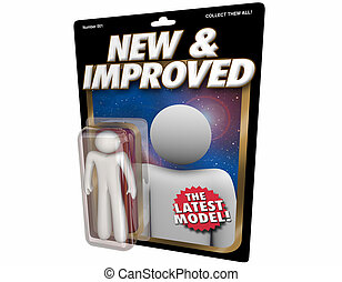 New and Improved Latest Model Product Release Action Figure 3d Illustration