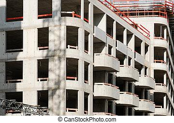 new apartment building under construction - real estate development