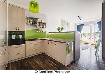 New apartment with open floor plan