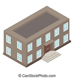 New architecture isometric house
