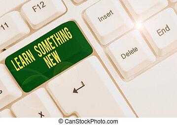 new., arrière-plan., clavier, papier, conceptuel, nouveau, ...