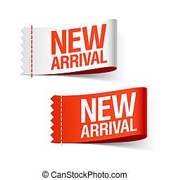 New arrival ribbons - vector illustration