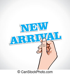 new arrival word in hand